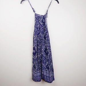 DIVIDED | blue paisley bandana halter top dress